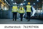 following shot of three... | Shutterstock . vector #761907406