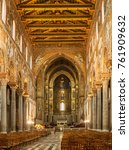 Small photo of ITALY, CICILY, MONREALE CIRCA JAN 2004 - Interior of the Cathedral church at Monreale