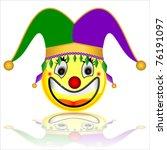 court jester smile character | Shutterstock .eps vector #76191097