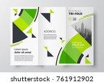 tri fold business brochure... | Shutterstock .eps vector #761912902