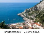 view of village erchie at... | Shutterstock . vector #761915566