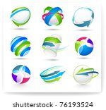 collection of color elements | Shutterstock .eps vector #76193524