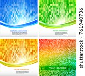 set abstract background modern