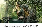 military staging base  chief...   Shutterstock . vector #761941072