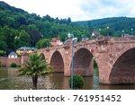 old bridge in heidelberg ... | Shutterstock . vector #761951452