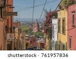 old city charm looking down... | Shutterstock . vector #761957836