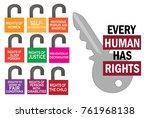 international human rights day   Shutterstock .eps vector #761968138