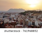 aerial view of evening alicante ... | Shutterstock . vector #761968852