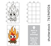 copy the picture using grid... | Shutterstock .eps vector #761969326