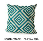 soft patterned pillow  isolated ... | Shutterstock . vector #761969506