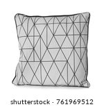 soft patterned pillow  isolated ... | Shutterstock . vector #761969512