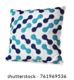 soft patterned pillow  isolated ... | Shutterstock . vector #761969536