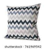 soft patterned pillow  isolated ... | Shutterstock . vector #761969542
