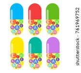 medication icon tablets  pills  ... | Shutterstock .eps vector #761969752