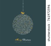 vector christmas ornament with... | Shutterstock .eps vector #761972596