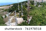 aerial photo of radio masts and ... | Shutterstock . vector #761978518