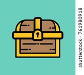 treasure chest   flat vector...   Shutterstock .eps vector #761980918