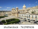 central cathedral noto sicily | Shutterstock . vector #761989636