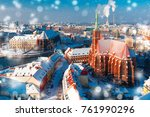 aerial view of ostrow tumski...