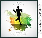silhouette of marathon runner   Shutterstock .eps vector #761990776