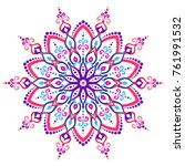 mandala vector design element.... | Shutterstock .eps vector #761991532