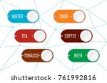 clickable one button device for ... | Shutterstock .eps vector #761992816