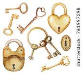 Vintage Set With Golden Keys...