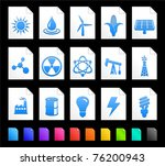 energy icon on document icon... | Shutterstock .eps vector #76200943