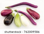 variety of eggplant types | Shutterstock . vector #762009586