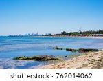 brighton beach and colorful...   Shutterstock . vector #762014062