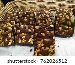 brownie with cooffe time | Shutterstock . vector #762026512