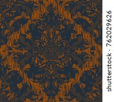 seamless abstract damask...   Shutterstock .eps vector #762029626