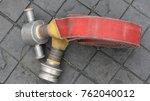 roll fire extinguisher. | Shutterstock . vector #762040012