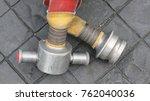 roll fire extinguisher. | Shutterstock . vector #762040036