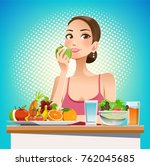 eat for beauty. eating for... | Shutterstock .eps vector #762045685