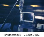 drug system on the steel pole... | Shutterstock . vector #762052402