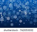 white snowflake macro vector... | Shutterstock .eps vector #762053332
