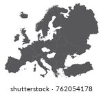 map of european | Shutterstock .eps vector #762054178