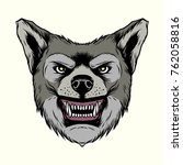 angry head coyote mascot... | Shutterstock .eps vector #762058816