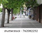 city sidewalk  walkway | Shutterstock . vector #762082252