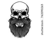 bearded skull. design element... | Shutterstock .eps vector #762090265