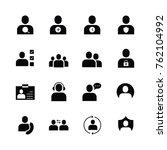 user icon set logo illustration ... | Shutterstock .eps vector #762104992