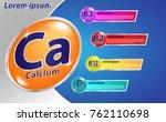 milk calcium and vitamin poster | Shutterstock .eps vector #762110698