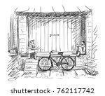 vector sketch of two indian men ... | Shutterstock .eps vector #762117742