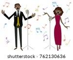 music clip art.gospel. jazz... | Shutterstock .eps vector #762130636