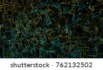 abstract geometric intricate... | Shutterstock . vector #762132502