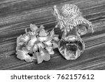essential hydrangea oil and... | Shutterstock . vector #762157612