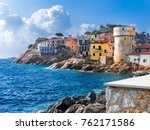 the perfect tiny seaside... | Shutterstock . vector #762171586