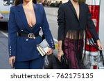 milan   september 22  woman...   Shutterstock . vector #762175135