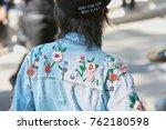milan   september 22  woman...   Shutterstock . vector #762180598